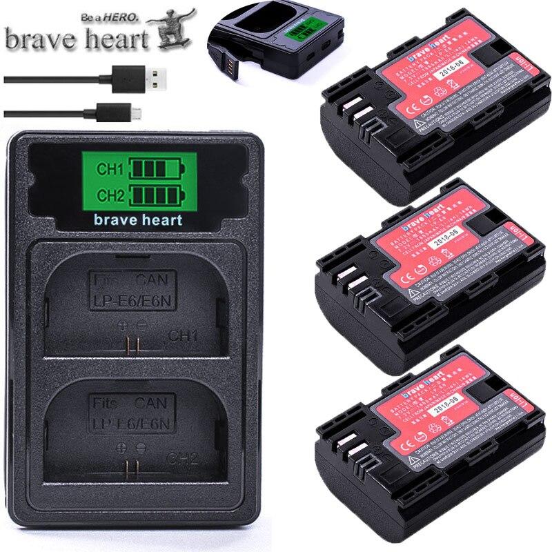Decoded LP-E6 LP E6 Camera Battery LP E6 E6N Batterie BY SANYO Cells For Canon DSLR EOS 60D 5D3 7D 6D 70D 80D 5D Mark II III