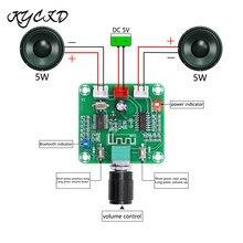 PAM8403 Bluetooth 5.0 amplifikatör kurulu 5W * 2 Stereo ses AMP DC 5V ses kontrolü ile Mini hoparlör ses sistemi XH A158