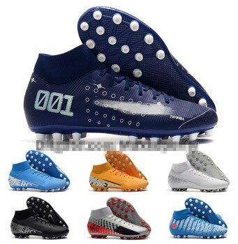 2019 Mens High Tops Football Boots  Superfly 7 Academy CR7 AG Soccer Shoes Neymar JR ACC Superfly VII Elite AG Soccer Cleats