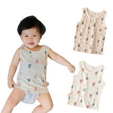 0-7T Children Baby Clothing Baby t-shirt Organic Cotton Baby Clothes Newborn New Born Baby Tanks Twins Baby Girl Boy Tops Summer(China)