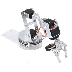 Image 5 - Arduino Robot 6 DOF Alluminio Morsetto Claw Mount Meccanico Braccio Robotico Servi Metallo Servo Horn con Ruota Flangia di Base 20% OFF