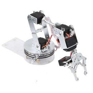 Image 5 - Arduino Robot 6 DOF alüminyum kelepçe pençe montaj mekanik robotik kol Servo Metal Servo boynuz döndürme flanş tabanı 20% kapalı