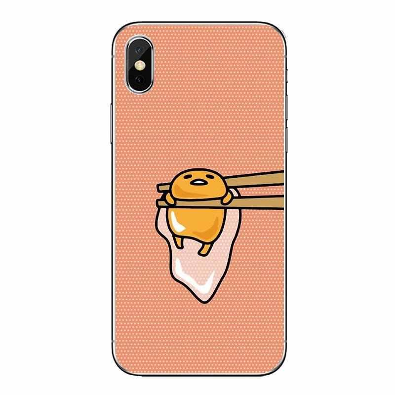 Casos transparentes macios capas de ovo dos desenhos animados japoneses preguiçoso gudetama para xiaomi redmi 4x s2 3s nota 3 4 5 6 6a por pocofone f1 mi 6