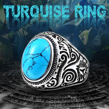 BEIER New Natural Oval Opal Green Stone Ring Stainless Steel Vintage Nobel Palace Product  For Woman Man Europe Jewelry BR8-186