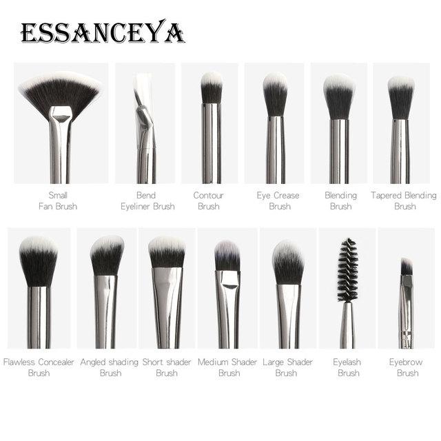 ESSANCEYA New Make Up Brushes 3-13 PCS Professional Blending Eyeshadow Eyebrow Brush For Makeup Beauty Set 4