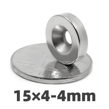 aidiy 5/20/50 pcs 15x4mm Hole 4mm N35 Super strong ring countersunk magnets  permanent neodymium magnet