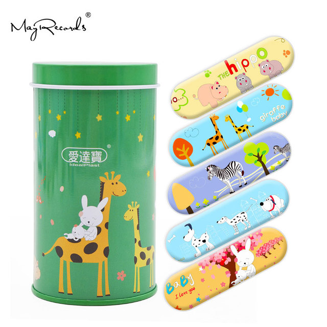 Free Shipping 50PCs Cartoon PE Waterproof Animals Style Adhesive Bandages Band Aid First Aid For Kids Children