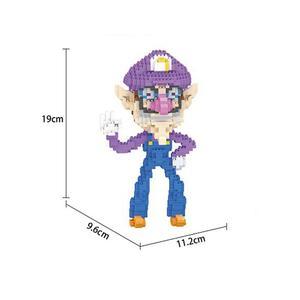 Image 3 - Bloques de construcción de figuras de super Mario bros para niños, juguete de piezas de bloques de Lepining, Wario, Yoshi, Waluigi, Luigi, mini micro diamante