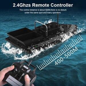 Image 5 - D11 RC appât bateau chercheur de pêche 1.5kg chargement 500m télécommande bateau Double moteurs 2 lumières Led vitesse fixe outils de pêche