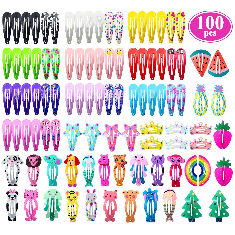Pinces à cheveux pour enfants, différentes couleurs, imprimés, poignée à cheveux aléatoire, serrage aléatoire, accessoires pour filles, womingb003, nouvelle collection