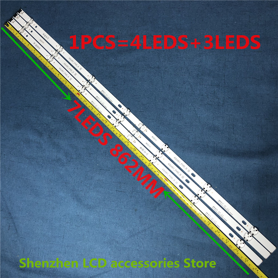 3Pieces/lot Led Backlight Strip 7 Lamp For 43LH5100 LC430DUY (SH)(A3) 43LJ594V 43UJ651V 43LH51_FHD_A Type HC430DUN-SLVX1-511X