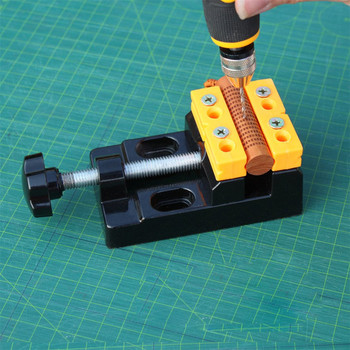 Aluminum Alloy Jaw Bench Clamp Mini Drill Press Vice Micro Clip Opening Parallel Table Flat Vise DIY Hand Tools cnc milling machine tool bench clamp jaw mini table vice plain vice parallel jaw vice ly6258