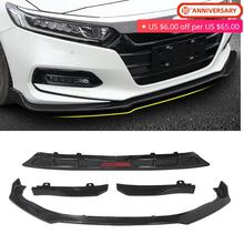 Front Bumper Lip + Rear Lip +Body Skirt Wing Surround Moulding Cover Trim Protector For Honda Accord 10th Gen 2018 2019 2 Colors nasoalveolar moulding in cleft lip and palate children