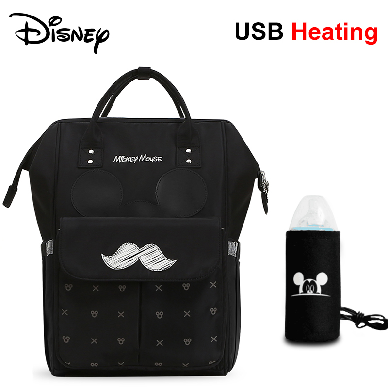 Disney Diaper Bags Waterproof Backpack for Moms Baby Bag Maternity for Baby Care Mommy Nappy Bag Travel Send Free 1Pair Hooks