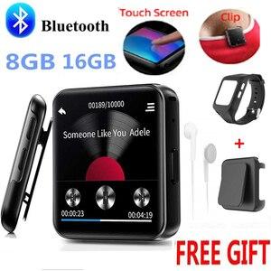 Image 1 - חדש BENJIE Bluetooth MP3 נגן מוסיקה נגן מגע מסך HiFi מתכת נגן עם FM רדיו, קול שיא מיני ווקמן ספורט