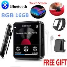 Yeni BENJIE Bluetooth MP3 çalar müzik oyuncu dokunmatik ekranı HiFi Metal radyo çalar ile FM radyo, ses kaydı Mini Walkman spor için