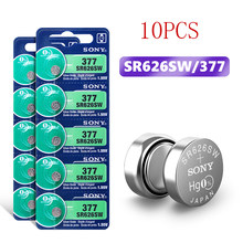 2020 New 10pcs NEW SONY Original 1.55V 377 376 SR626SW 626 SR626 V377 AG4 Watch Battery Button Coin Cell For Toys MADE IN JAPAN
