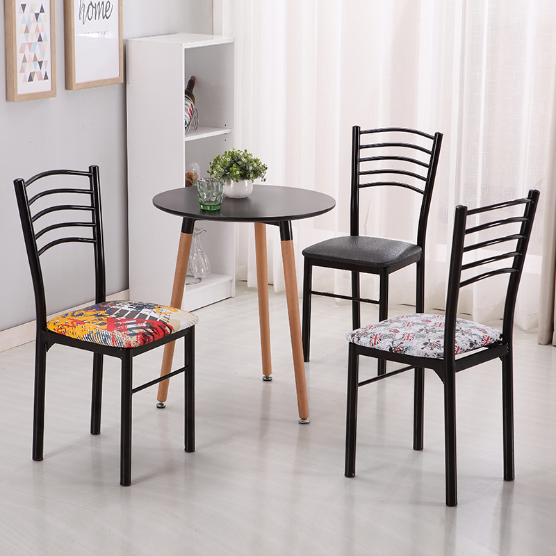 Simple Restaurant Chair Back Home Simple Modern Hotel Fast Food Chair Fashion Hotel Dining Table Chair Wrought Iron Adult
