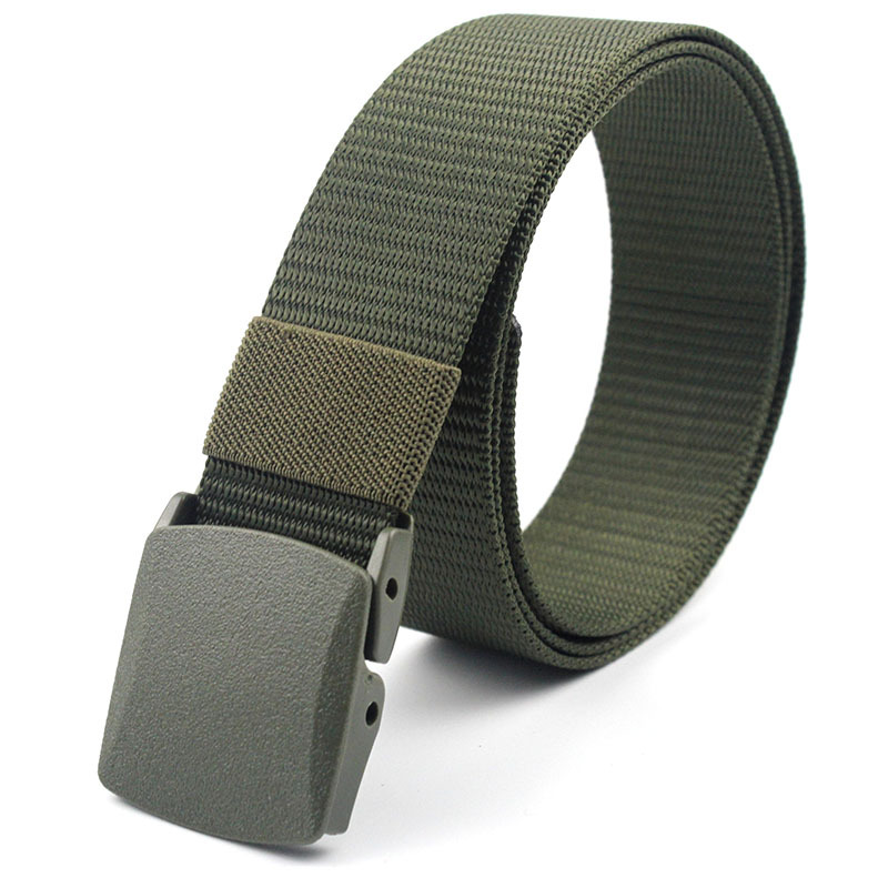 2019 Military Men Belts Army Belts Adjustable Belt Men Outdoor Travel Tactical Waist Belt With Plastic Buckle For Pants 120cm