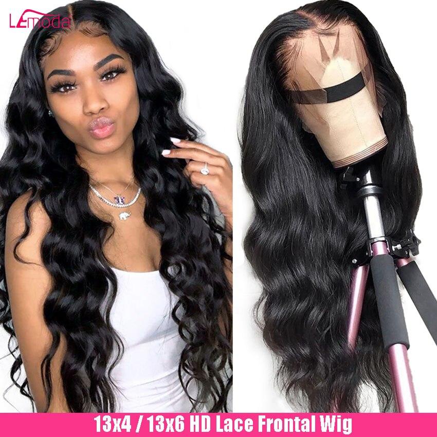 Парик из человеческих волос на шнуровке, парик с волнистыми волосами HD, Прозрачная Кружевная прядь, свободный глубокий парик, 28 дюймов, браз...