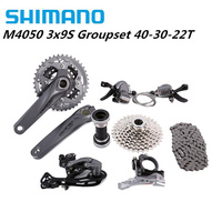 Shimano alivio m4050 bicicleta mtb 9 velocidade grupo grouspet kit 170/175|alivio m4050|shimano groupset alivio|shimano m4050 -