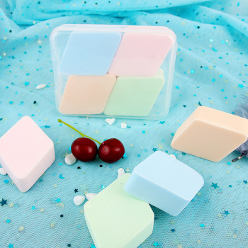 Angel Beauty Rhombus Water Drop Powder Puff pao shui da Wet And Dry Dual Purpose Miter Sponge Makeup fen pu he Beauty Wholesale 2