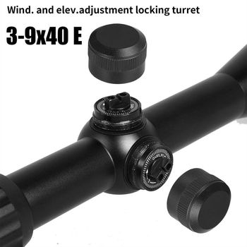 3-9x40EG Optic Hunting Riflescope with Red/Green Illuminated for Air Rifle Optics Hunting Sniper Scopes Sight W/Pair 5