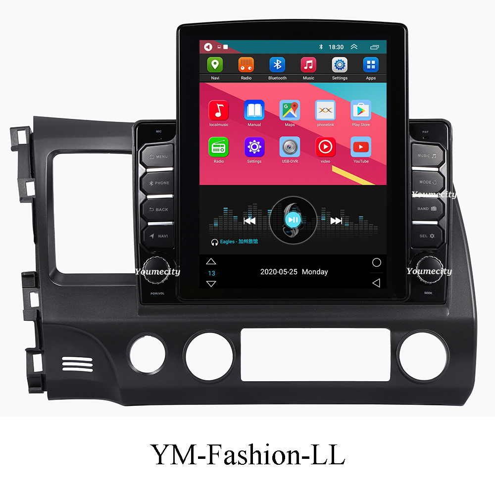 Image 2 - Eight Core/Android 9.0 Car Multimedia Player DVD Gps For Honda Civic 2006 2011 Radio IPS Screen 2DIN 10.1inch Radio Video BT2 din 10.12 dindvd car gps -