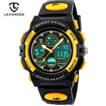 Детские спортивные часы LAVAREDO, модные, светодиодный, кварцевые, многофункциональные, цифровые, водонепроницаемые, 50 м, наручные часы A5