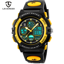 Lavaredo Kinderen Sport Horloges Mode Led Quartz Multifunctionele Digitale Horloge Voor Kinderen 50M Waterdicht Horloges A5
