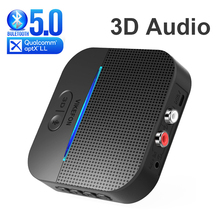 50M/164ft Lange Belde Bluetooth 5.0 Rca Ontvanger 3D Surround & Aptx Ll 3.5Mm Aux Jack Audio draadloze Adapter Muziek Auto Zender