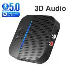 50M/164ft longue portée Bluetooth 5.0 RCA récepteur 3D Surround & AptX LL 3.5mm AUX Jack Audio sans fil adaptateur musique voiture émetteur