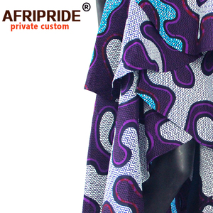 Image 4 - hot sale african dress for women AFRIPRIDE private custom sleeveless pleated party dress 100% pure wax cotton A722582