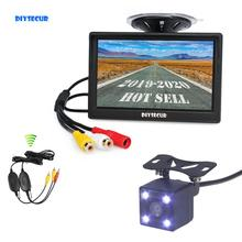 цена на Wireless Waterproof CCD Reverse Backup Car Camera LED Night Vision + 5 inch LCD Display Rear View Car Monitor Free Shipping