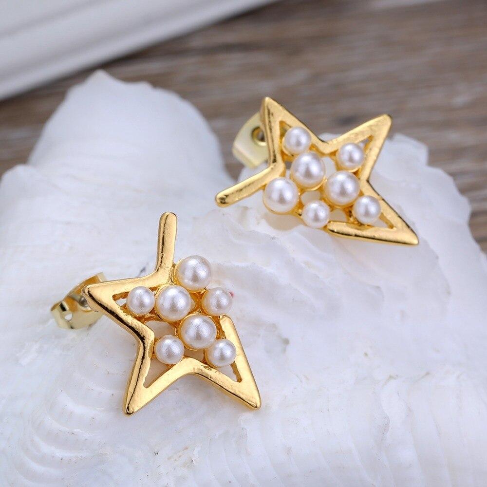 12 Pairs/set Stud Earrings Set With Card Transparent Zircon Balls Love Flowers Earrings Women Imulated Pearl Earrings Jewelry 104