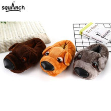 Cute Dog Kigurumis 3D Slippers Cartoon Animal Shoes Autumn Winter New Style Plush Slipper Adult Couple Home Party Indoor Wea цена 2017