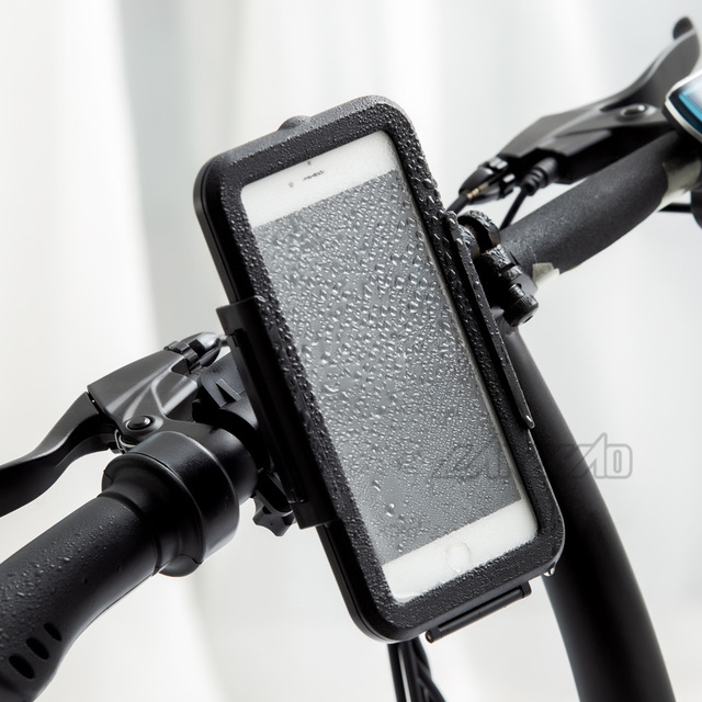 Outdoor Sport Motorcycle Cycling Waterproof Phone Case GPS Holder Stand 22-28mm Mount Bracket for Honda Ducati Aprilia Triumph