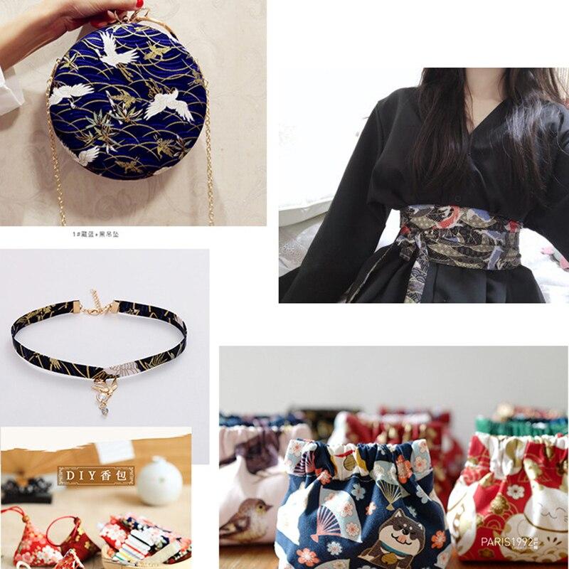 Черный красный хлопок вишневый цвет Бронзирующая ткань, бабочка кран Precut швейная ткань Лоскутная стеганая DIY японская ткань 5