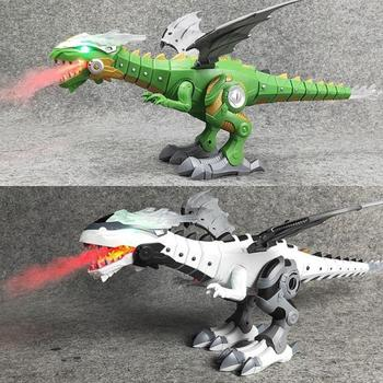 Electric Toy Large Size Walking Spray Dinosaur Robot With Light Sound Mechanical Dinosaurs Model Toys Kids Halloween Toys mighty electric walking with sound dinosaur toys animals model toys for kids