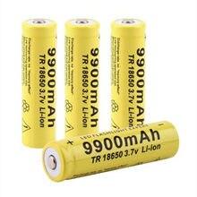 Bateria 2019 tr 18650 3,7 v 9900 mah recarga de li-ion para linterna led caliente de alta calidad