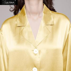 Image 4 - LilySilk 100 Silk Pajama Set Sleep Lounge Pyjamas Natural Skin Care Women 22 Momme Long Sleeve Sleepwear Free Shipping