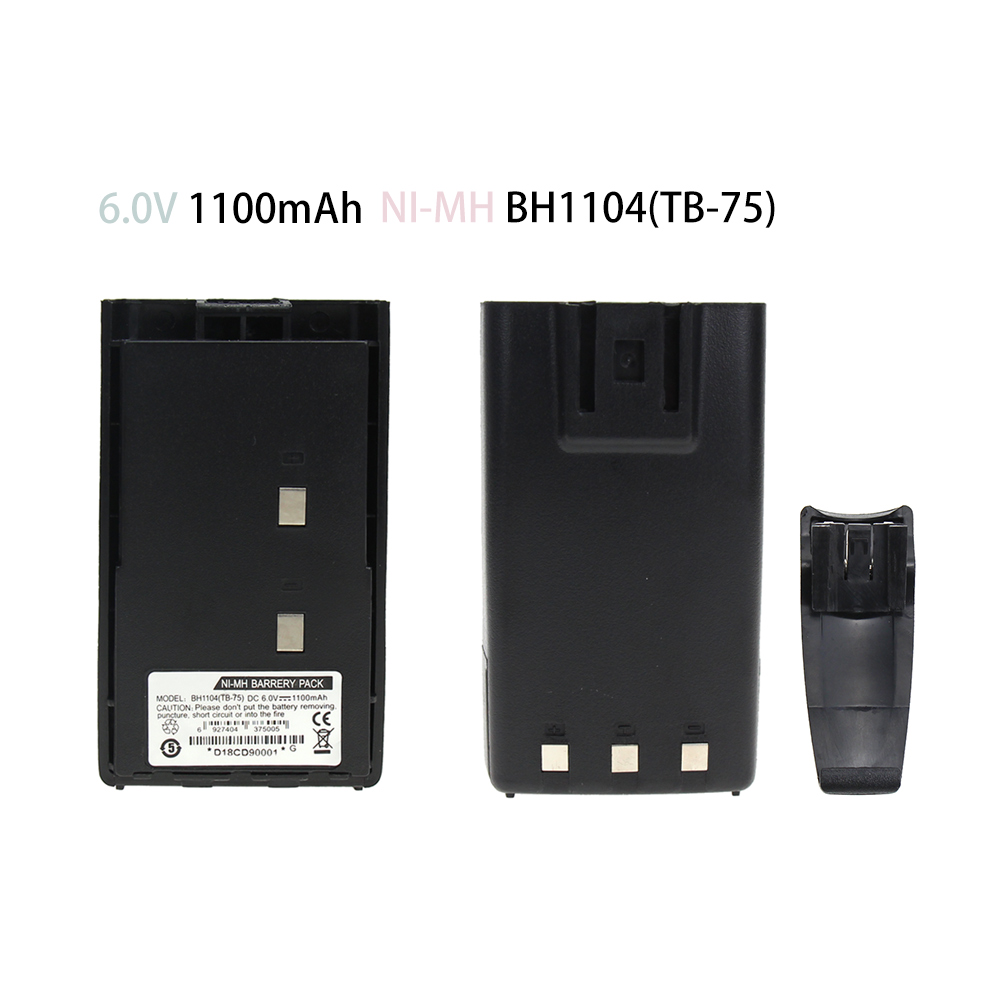 TC500 1100mAh Ni-MH Battery Compatible For Hytera HYT BH1104 BH1302 TC-500 TC-446 TB-75 Portable Radios With Belt Clip