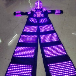 Stelzen Wanderer RGB LED Licht LED Tänzerin ~ Kostüm LED Roboter Anzug Für Party Leistung Elektronische Musik Festival ~ DJ zeigen