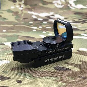Оптика 1x22x33 четыре ретикулы для съемки голографическая оптическая страйкбола зритель красная точка воздушная винтовка охотничий прицел