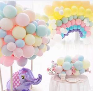Image 4 - 5/10/18/24/36 inch Pastel Candy Balloons Wedding Party Round Helium Macaron Balloon Arch Decoration