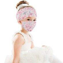 Женская тканевая повязка для волос, модные головные уборы для девочек, аксессуары для волос с кнопкой для держателя маски