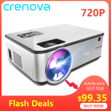 CRENOVA Home Cinema Video-Projector Support Videos Movie HDMI 4K Android 1280--720p Via