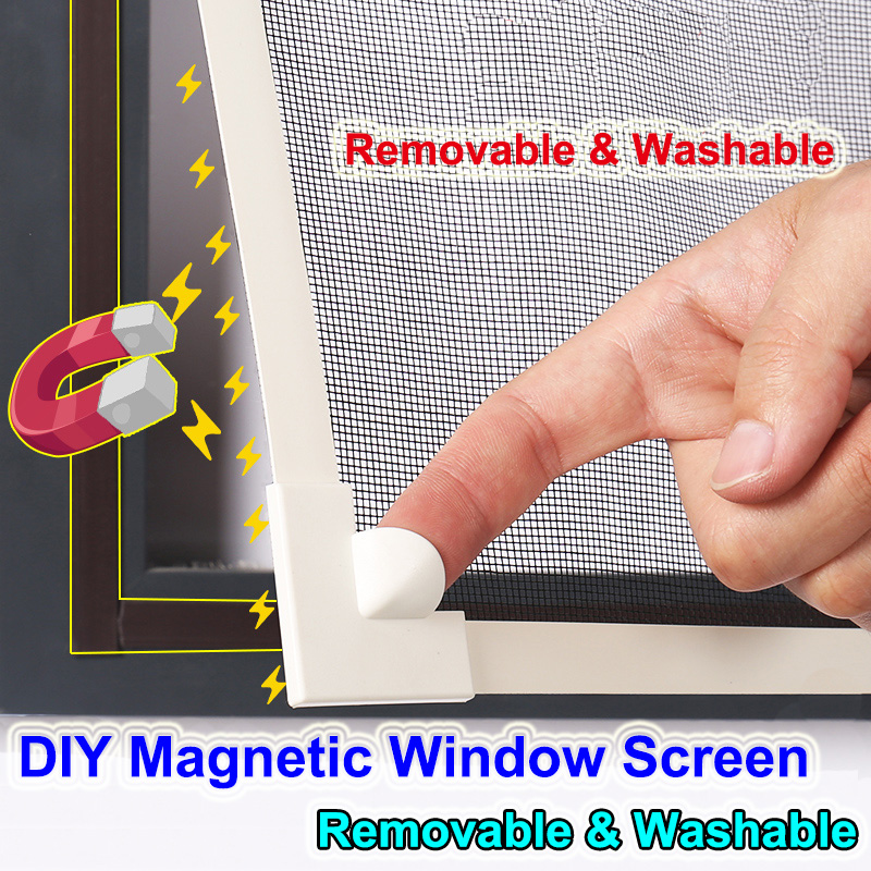 Invisible Fly Mosquito Screen Net Mesh, Custom Made DIY Magnetic Window Screen Fit Windows Removable&Washable