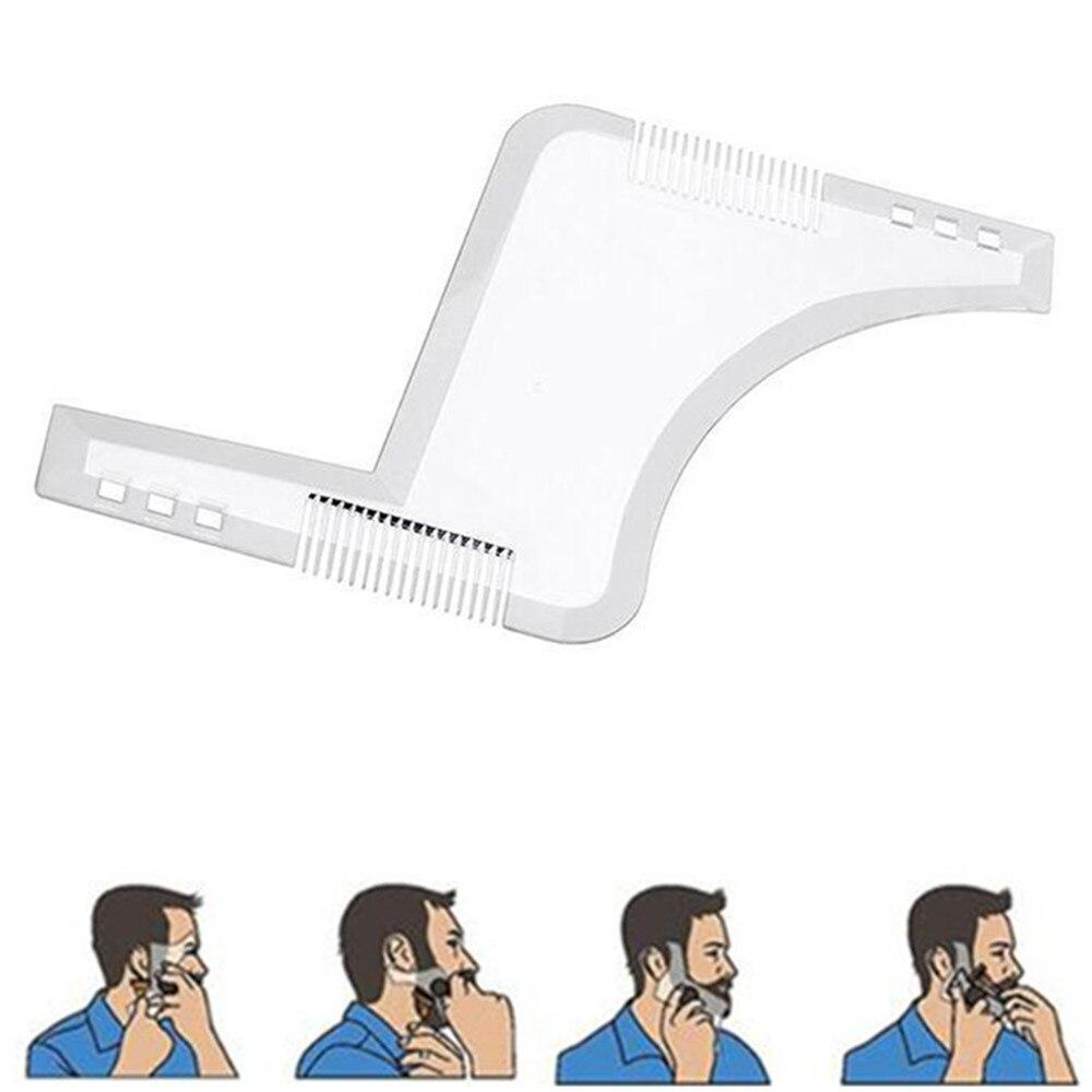 Hot Selling Comb Beard Shaping Tool Sex Man Gentleman Beard Trimmer Template Hair Cut Hair Molding Beard Qqt-102