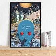 Science-fiction – affiche de peinture sur toile de La planète sauvage, film classique, Art, décoration murale de maison